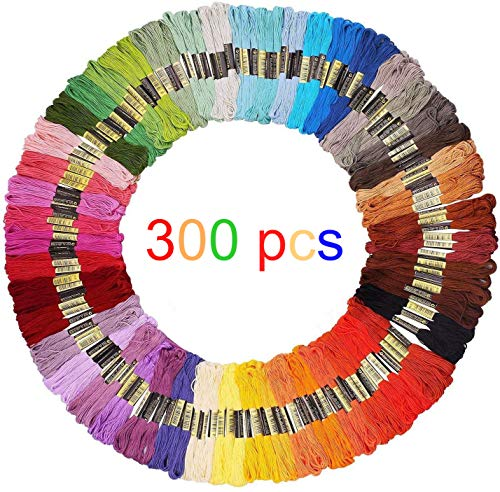 Embroidery Floss 300 skeins 2400 M Embroidery Thread,Cross Stitch Threads, Bracelets Floss, Crafts