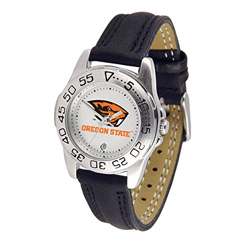 SunTime Oregon State Beavers Ladies Sport Watch with Leather Band
