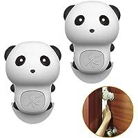 GINOYA Silicone Pinch Guard, 2pcs Panda Door Slam Stopper for Prevent Kids and Pet Finger Injuries, Door Slams, Getting…