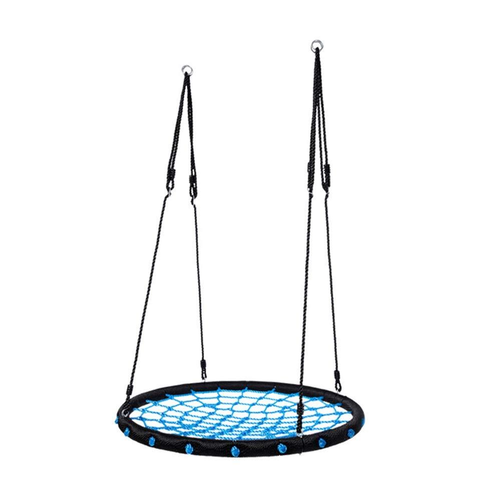 ツリースイングクモの巣 - 40インチ径キッズ屋内/屋外ラウンドスイング - ツリー、スイングセット、裏庭、遊び場、プレイルームに最適 B07RLXWHQW