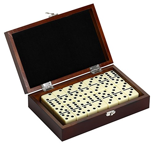 Hathaway Premium Domino Set w/Wooden Carry Case Premium Domino Set w/Wooden Carry Case, Walnut