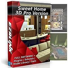 Sweet Home 3D Interior Design House Architect Designer Suite Software PRO w/3D Models, Plugins, Tools & Tutorials - Chief CAD Program for Windows PC & Mac 2018