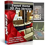 #10: Sweet Home 3D Interior Design House Architect Designer Suite Software PRO w/3D Models, Plugins, Tools & Tutorials - Chief CAD Program for Windows PC & Mac 2018