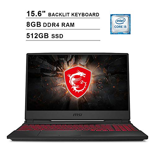 2020 Newest MSI GL65 15.6 Inch FHD 1080P Gaming Laptop (Intel 4-Core i5-9300H up to 4.1 GHz, NVIDIA GeForce GTX...
