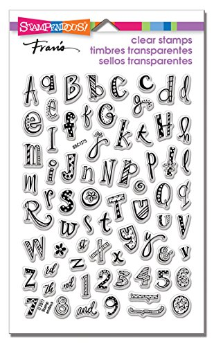 STAMPENDOUS SSC1275 Funky Alphabet Clear Stamp Set ()