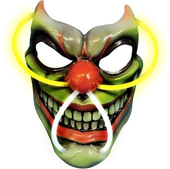 amazoncom rubieu0027s costume scary clown lightup mask multi one size clothing