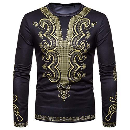 Eleganti 3d Africano Shirt O Tee Tank Camicia Top Lunga Felpa collo Nero Camicetta Da Stampa Cloom Dashiki Autunno Manica Uomo Uomo Maschile Inverno Maglietta x0wIaaq6