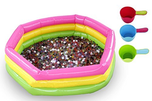Water Bead Starter Kit - 20000 Water Beads for Kids + Inflatable Pool + Development Tools for Games [並行輸入品]   B07DQJP2KB