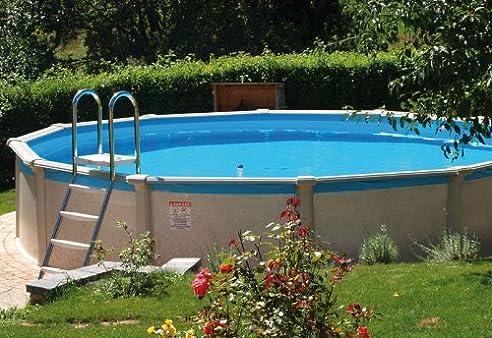 Swimmingpool im garten  Stahlwandpool Set Grande Ø 5,49 x 1,35 m POOL SWIMMINGPOOL: Amazon ...