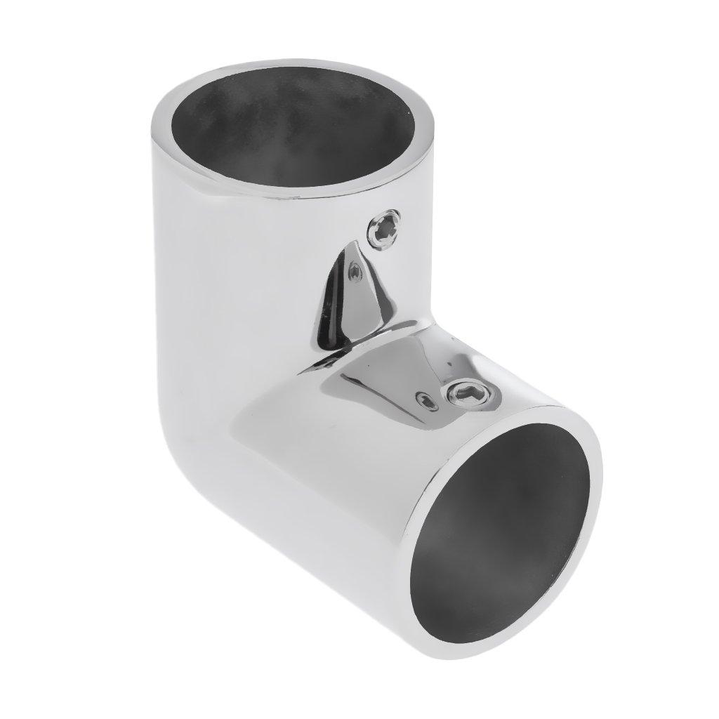 MagiDeal Codo 90 Grados de Acero Inoxidable 316 Accesorios para Barandilla de Yate Barco 22//25//30 mm