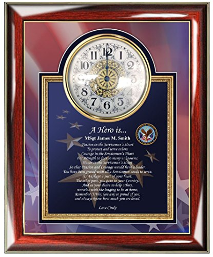 Personalized Clock & Poem USAF Plaque