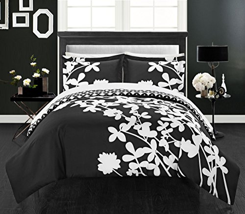 Chic Home 3 Piece Calla Lily Reversible Large Scale Floral D