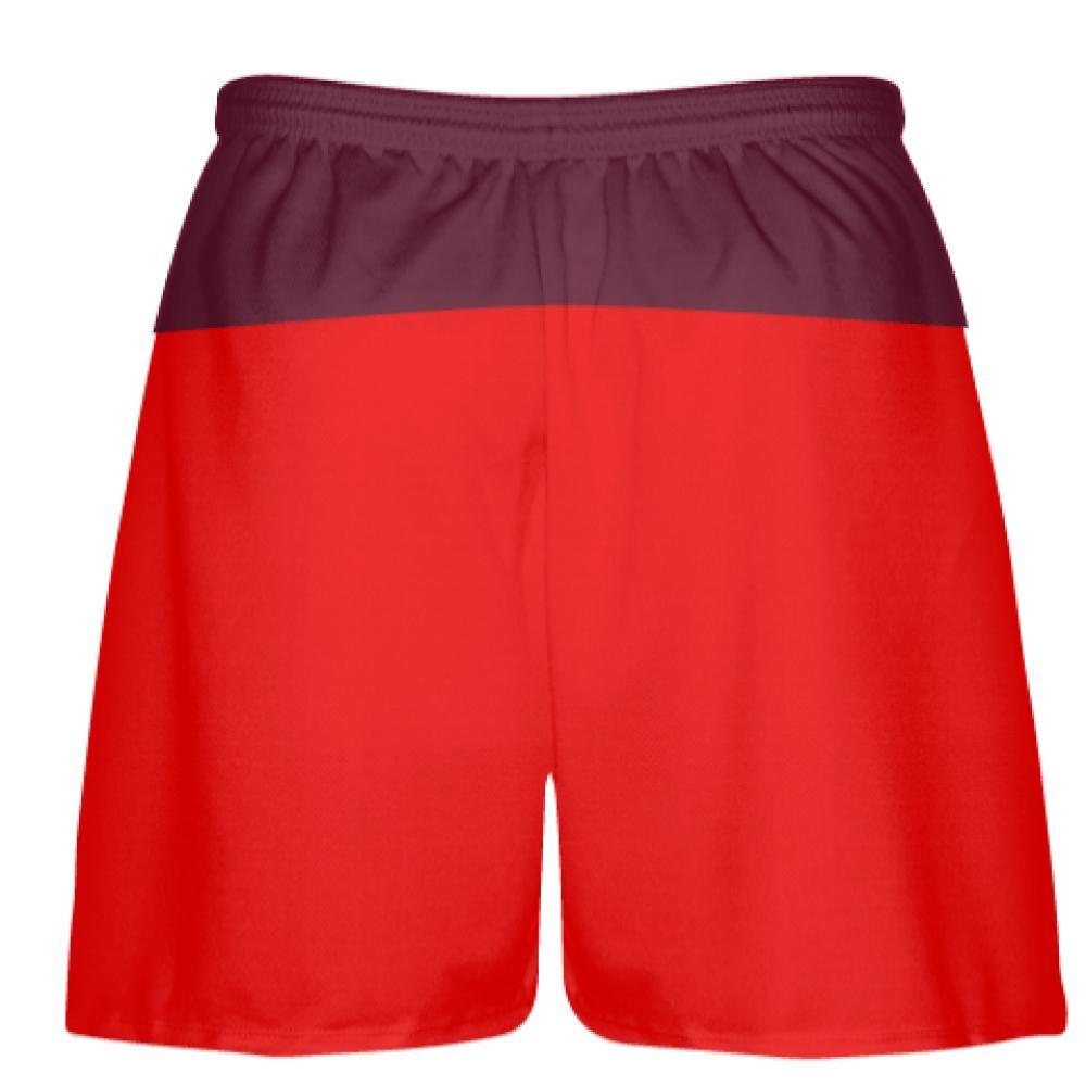 Pockets Lacrosse Shorts Youth Red Maroon Shorts Boys Mens Shorts Youth Vegas Gold