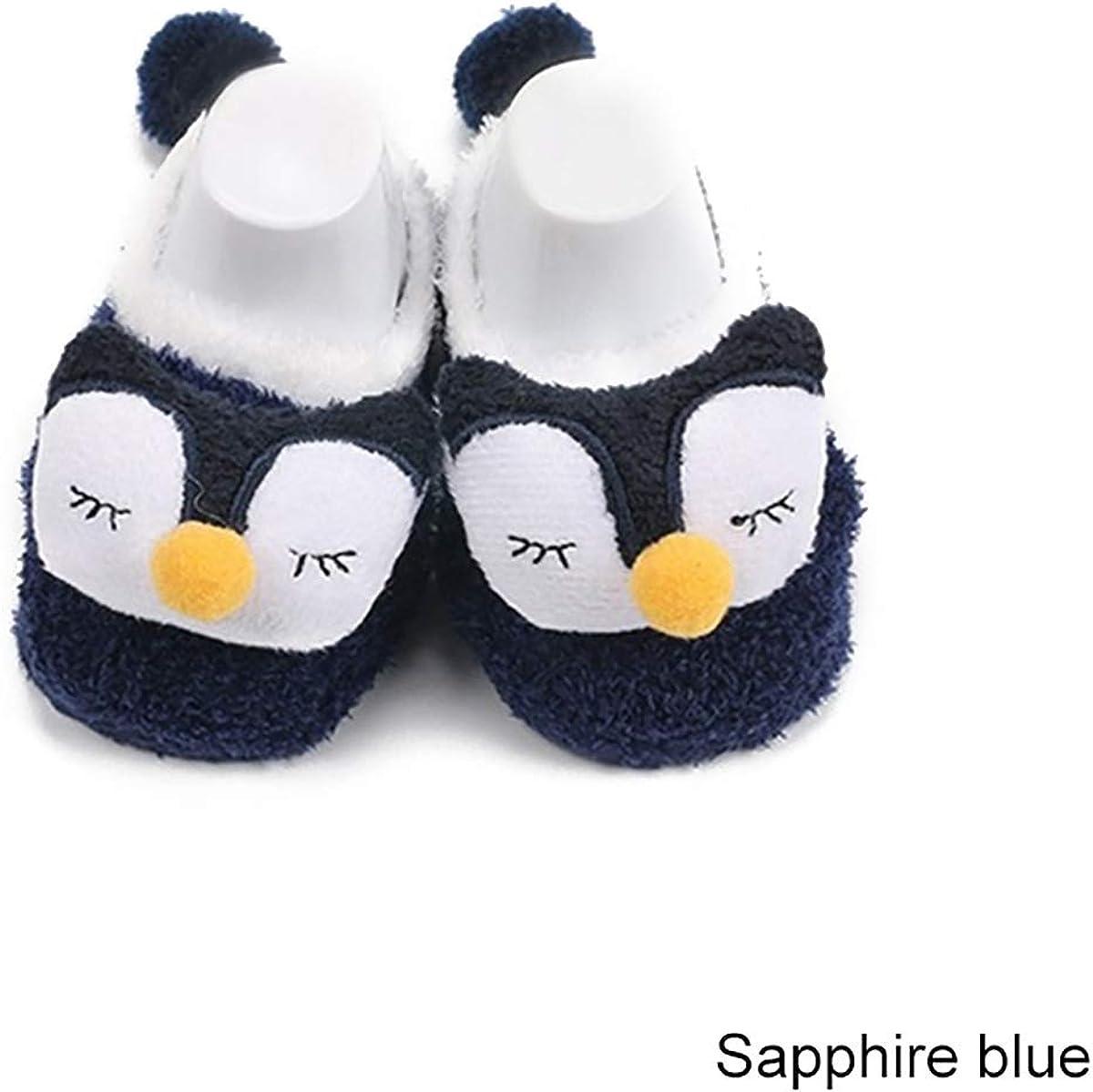 Bébé Nouveau-né Filles Garçons Anti-Dérapant Chaussettes Chaussons Chaussures 0-12 mois Un