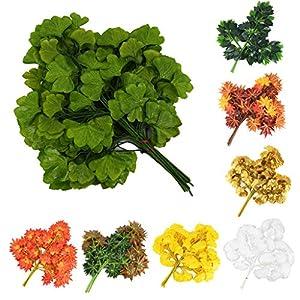 Baulody Artificial Plants Fake Leaf Foliage Bush Home Office Garden Flower Wedding Decor 68