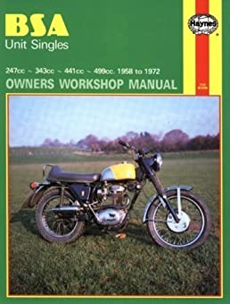 bsa unit singles owners workshop manual motorcycle manuals by rh amazon com Boy Scouts of America Manual 1967 BSA 250