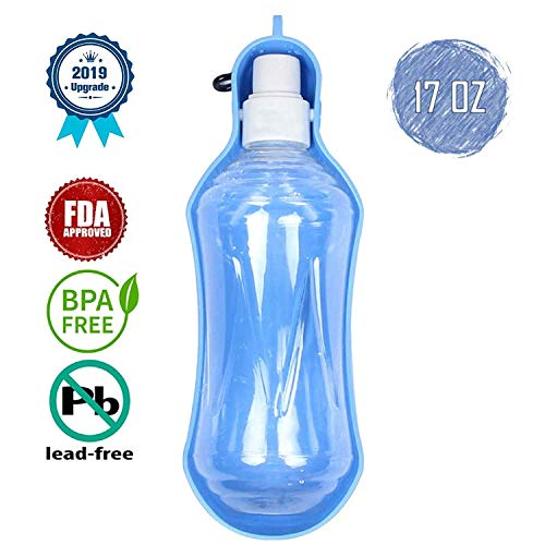 Ximalay Dog Water Bottle, Portable Pet Travel Water Dispenser Portable Mug Holders Cap for Dogs, 500 ml/17 oz Portable for Outdoor Use Drinking Cup for Walking (350ml Green)