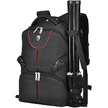 Black Backpack for SLR/DSLR Digital Nikon/ Canon Camera and Accessories