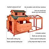 """LAZY BUDDY Chicken Coop, 70"""" Wooden Chick Cage"""