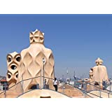 Gifts Delight LAMINATED 36x24 inches POSTER: Barcelona Gaudi Spain Guell Architecture Park Architect Mosaic Catalonia Unesco Antoni Vacation Landmark Tourism Artistic Catalan Pedrera