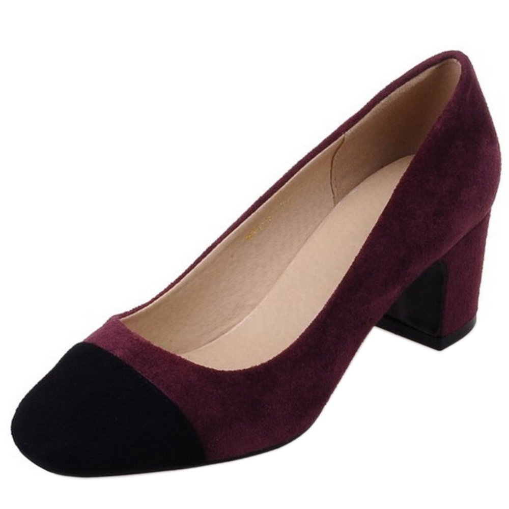 Zanpa Damen Mode Pumps Mid Heel32 EU|1#winered