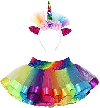 iSpchen - Falda tutú con unicornio para disfraz de carnaval ...