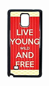 living young wild and free Snap-on Hard Back Case Cover Shell for Samsung Galaxy Note 4 -3418
