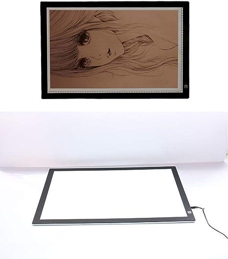 TANERDD Ultra Delgado Pad de Caja de luz LED A2 Brillo Ajustable Art Craft Dibujo Trazado Tattoo Board Lightbox: Amazon.es: Deportes y aire libre