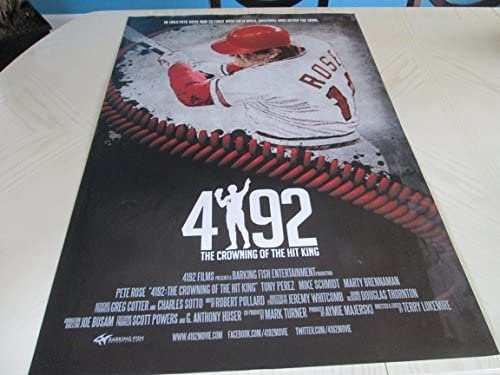 #4192 Record Hit Baseball Movie Poster//Photo Unsigned PETE ROSE29x42
