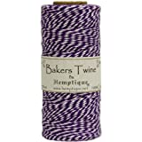 Hemptique Baker's Twine Spool, Purple and White