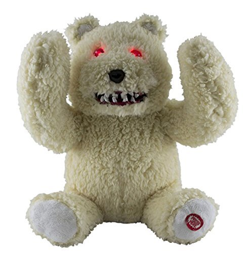 9 inch Animated Light Up Peek-A-Boo Monstrous Teddy Bear Halloween Plush - Scary Phrases]()