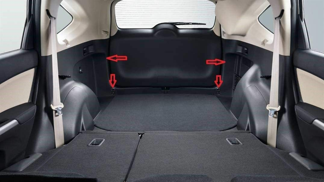 Red De Carga Del Maletero Trasero for Honda CR-V 2017 2018 2019 2020 New Rear Trunk Space Area Black Vertical Envelope Style Storage Fixed Organizer Web Mesh Luggage Bungee Compartment Cargo Net