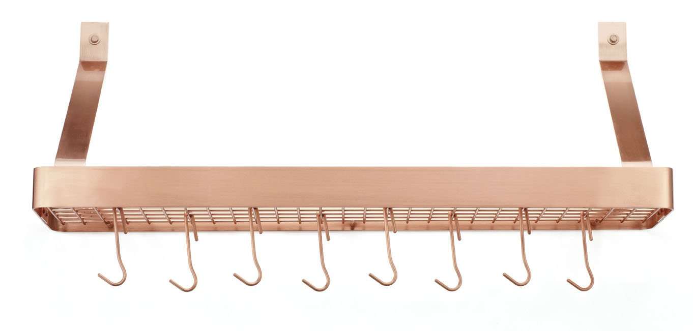 Cuisinart  Chef's Classic 36-Inch Rectangular Wall-Mount Bookshelf Rack, Polished Copper