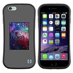 "Hypernova Slim Fit Dual Barniz Protector Caso Case Funda Para Apple (5.5 inches!!!) iPhone 6 Plus / 6S Plus ( 5.5 ) [Mantenga Cita Lock Estrellas Universo Galaxy""]"