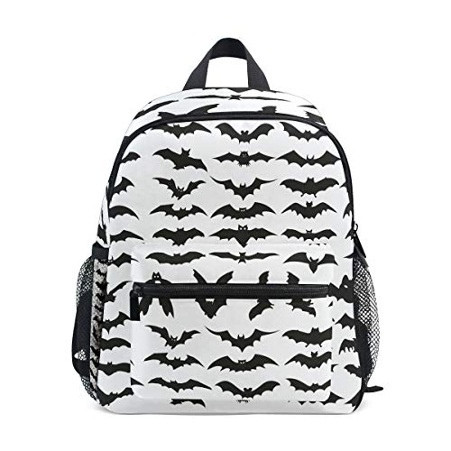 MUOOUM Halloween Bat Clip Art Kids Backpack Pre-School Toddler Bag Travel Daypack
