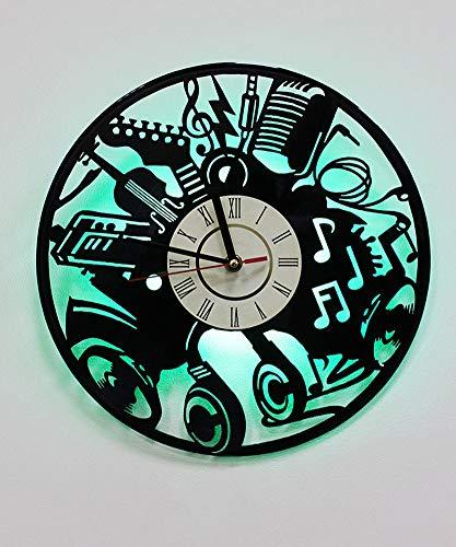 (ZBHUU LED Wall Clock Creative Children's Room Art Decor Musical Ancient Wall- Unique Handmade Gift Idea for Boys Girls Halloween Christmas and)