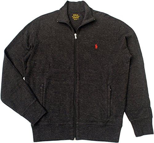 Polo Ralph Lauren Men's French Rib Full-Zip Jacket, Black Marl Heather, Small