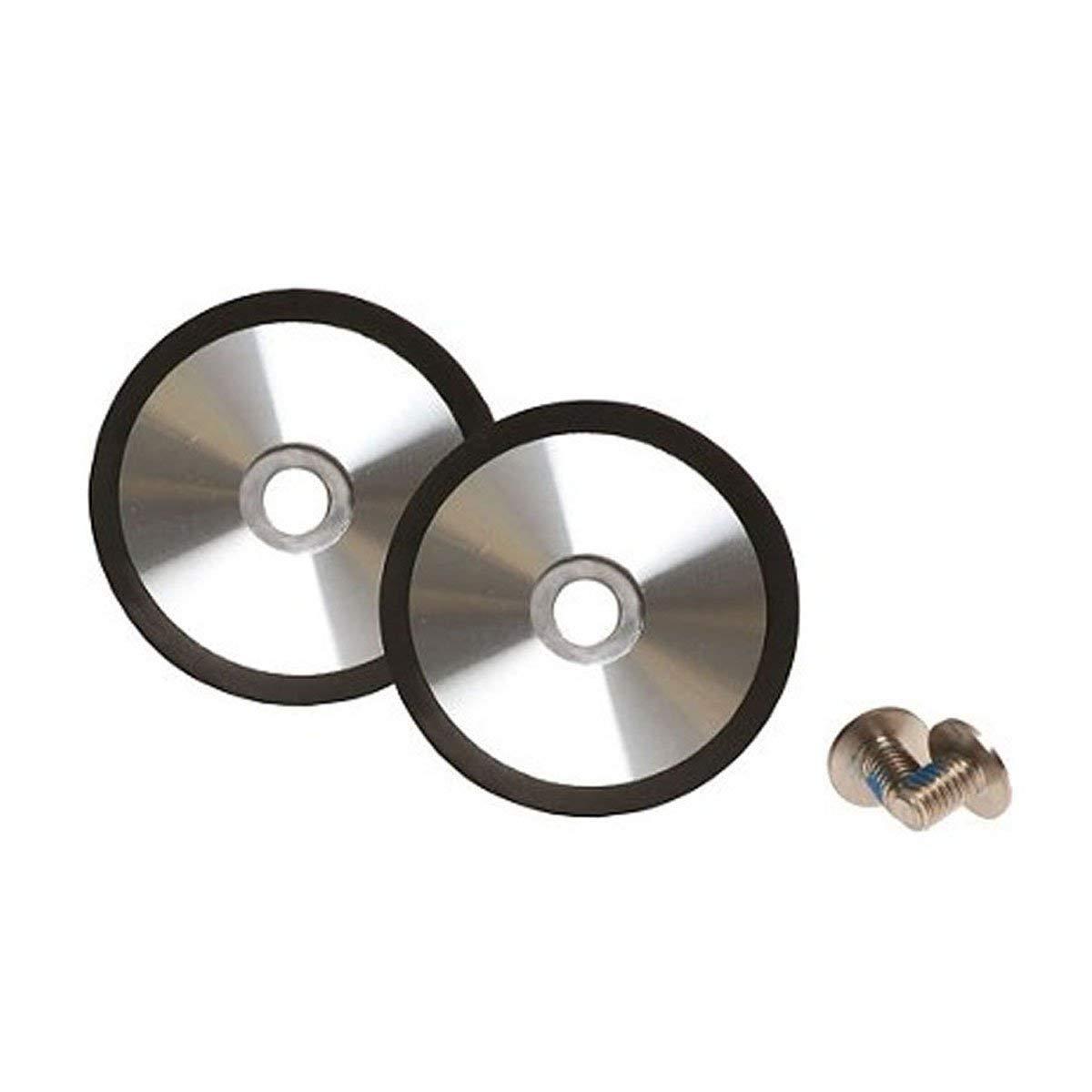 Bell Powersports Bullitt Helmet Shield Pods (Brushed Silver)