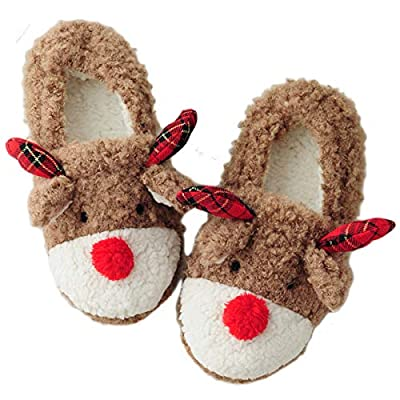 Wome's Christmas Cute Animal Bedroom House Slippers
