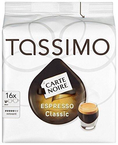 tassimo carte noire espresso classico 16 t discs pack of 5 total 80 t discs sale deals. Black Bedroom Furniture Sets. Home Design Ideas