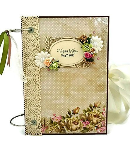 Kristabella Creations Wedding Album, Wedding Scrapbook Album, A4 Ring Binder Wedding Memory Book, Personalized Anniversary Gift, Interactive, 20 inner pages, Embellished by Kristabella Creations