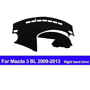 AUCD RHD Car Dashboard Cover Dash Mat for Mazda 3 BL 2009 2010 2011 2012 2013 Automobile Non-Slip Sun Shade DashMat Pad Carpet