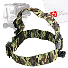 DURAGADGET High Quality Camouflage Anti-Slip Head / Helmet Strap with GoPro Style Mount - Compatible with the Eken H9 | H8 | H3 Action Cameras