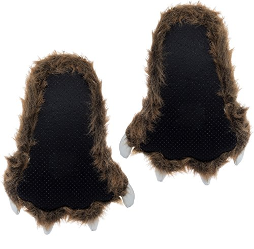 Bear Grizzly White Brown Claws Paw Wishpets Chaussons 01wqOn80z