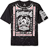 Southpole Men's Short Sleeve Graphic Tee Collection, Black Box, 6XB