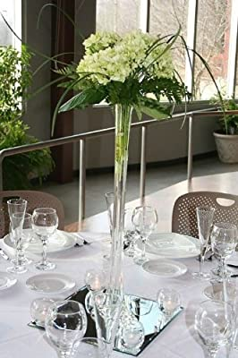 """LACrafts Inch 20"""" Glass Eiffel Tower Vases 12 Pack Clear"""
