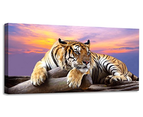 k & White One Panel Wall Art Painting Blue Eyed Tiger Prints on Canvas the Picture Animal Pictures Oil for Home Modern Decoration Print Decor for Kitchen (Tiger Wall Art Painting)
