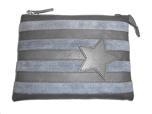 Borsa donna Collezione Argento Antico by Laino Industry fashion accessories - Borsa in pelle con stella