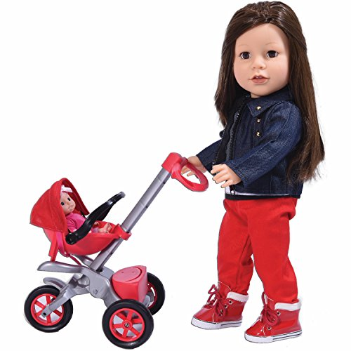 Bye Bye Baby Doll Stroller Play Set for 18 inch Dolls - Great for American Girl Dolls and Doll Accessory Set