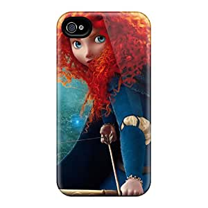 Iphone 4/4s Case, Premium Protective Case With Awesome Look - Brave's Princess Merida